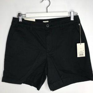 NWT A New Day Chino Shorts w/ Stretch Black sz 6